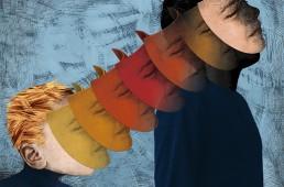 Illustration pour le journal Le Monde diplomatique, un article sur le rôle du système éducatif face aux inégalités sociales.