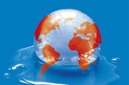 Conception graphique et illustration de couverture de la version livre de l'Atlas environnement du Monde diplomatique.