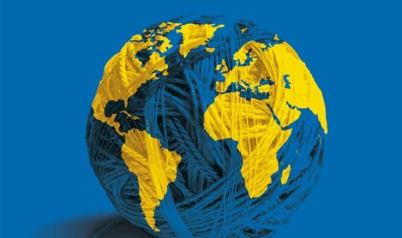 Conception graphique et illustration de couverture de la version livre de l'Atlas 2009 du Monde diplomatique.