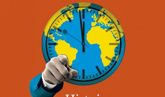 Conception graphique et illustration de couverture de la version livre de l'Atlas Histoire du Monde diplomatique.