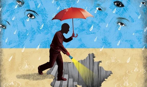 illustration pour la revue Books sur le livre Le chagrin et le venin, la France sous l'occupation, mémoire et idées reçues.