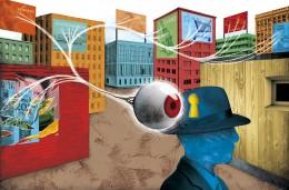 Illustration pour le magazine La Recherche, article sur les techniques du neuromarketing.