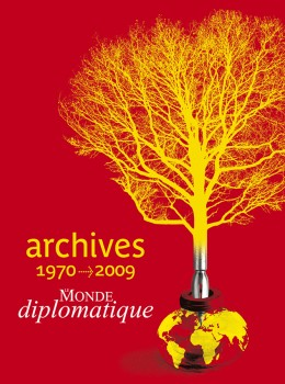 Conception graphique et illustration de couverture du DVD des archives du Monde diplomatique, édition 2010.