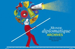 Conception graphique et illustration de couverture du DVD des archives du Monde diplomatique, édition 2012.
