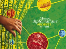 Conception graphique et illustration de couverture du DVD des archives du Monde diplomatique, édition 2013.