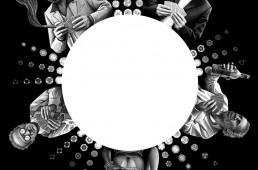 Illustration pour une nouvelle policière parue dans la revue Chéribibi.