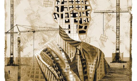 Recherche personnelle sur les paysages urbains imaginaires.